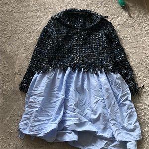 NWOT Tweed Shirt-Dress